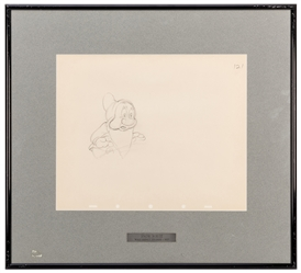 Walt Disney Studios Snow White and the Seven Dwarfs Pencil Production Drawing.