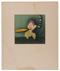 Walt Disney Studios Snow White and the Seven Dwarfs Dopey Animation Cel.