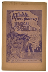 Atlas Trick and Novelty Co. Magical Specialties Catalogue No. 12.