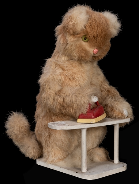 Roullet & Decamps Ironing Cat Automaton.