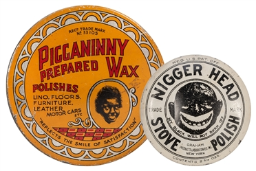Black Americana Polish Wax Tins. 2 pcs.