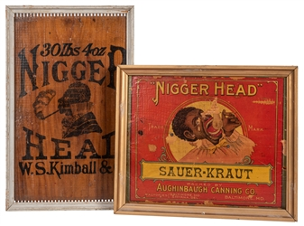 Black Americana Wooden Crate Labels.