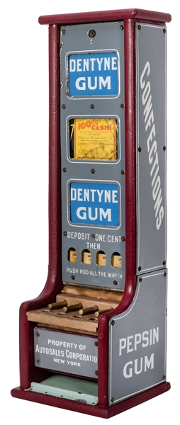 "Dentyne / Pepsin Gum One Cent ""L"" Vending Machine."