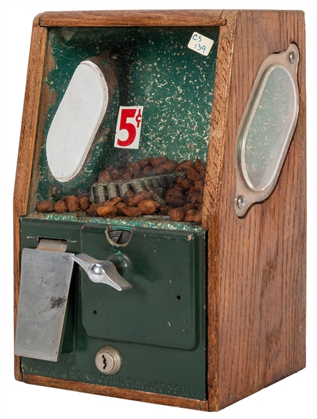Victor Vending Co. Five Cent Gum / Peanut Machine.