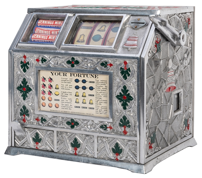Puritan Confection Vender One Cent Mint Vendor / Slot Machine.