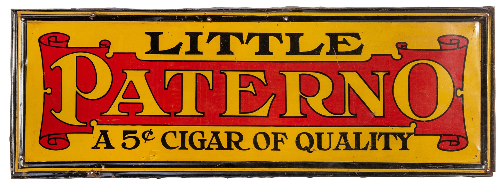 Little Paterno / A 5 Cent Cigar of Quality Tin Sign.