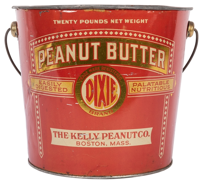 Dixie Peanut Butter Twenty Pound Tin Pail.