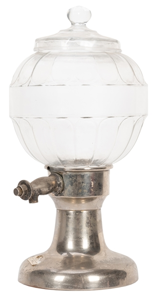 Antique Syrup Dispenser with Glass Globe.