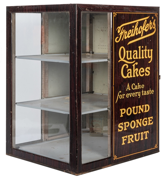 Freihofer's Quality Cakes Counter Display Cabinet.