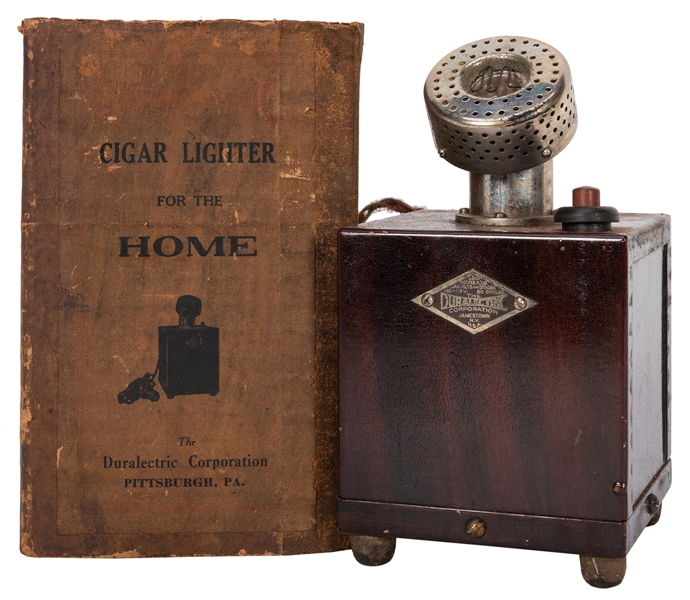 "Duralectric Corp. Cigar Lighter ""For the Home"" in Original Box."