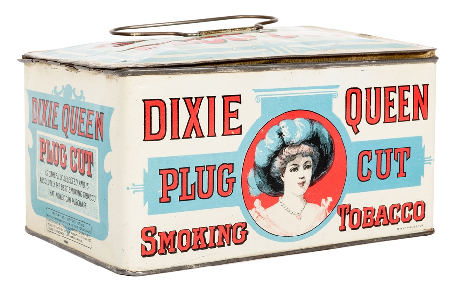 Dixie Queen Plug Cut Smoking Tobacco Lunch Pail.
