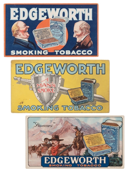 Edgeworth Smoking Tobacco Advertisement Cards. 3 pcs.