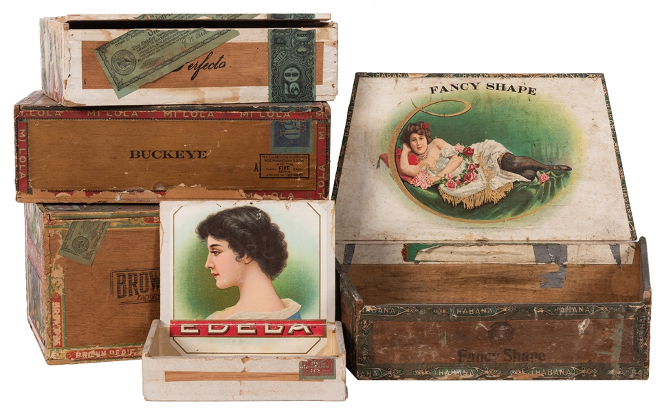 Women Themed Cigar Boxes. 5 pcs.