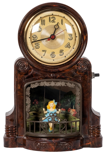 Master Crafters Swinging Girl Electric Sessions Clock.