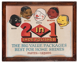 2 in 1 Shoe Polishes Advertisement.