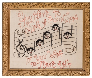 Black Americana Musical Needle Work.