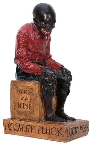 "Black Americana Poker ""Good Luck"" Countertop Statue."
