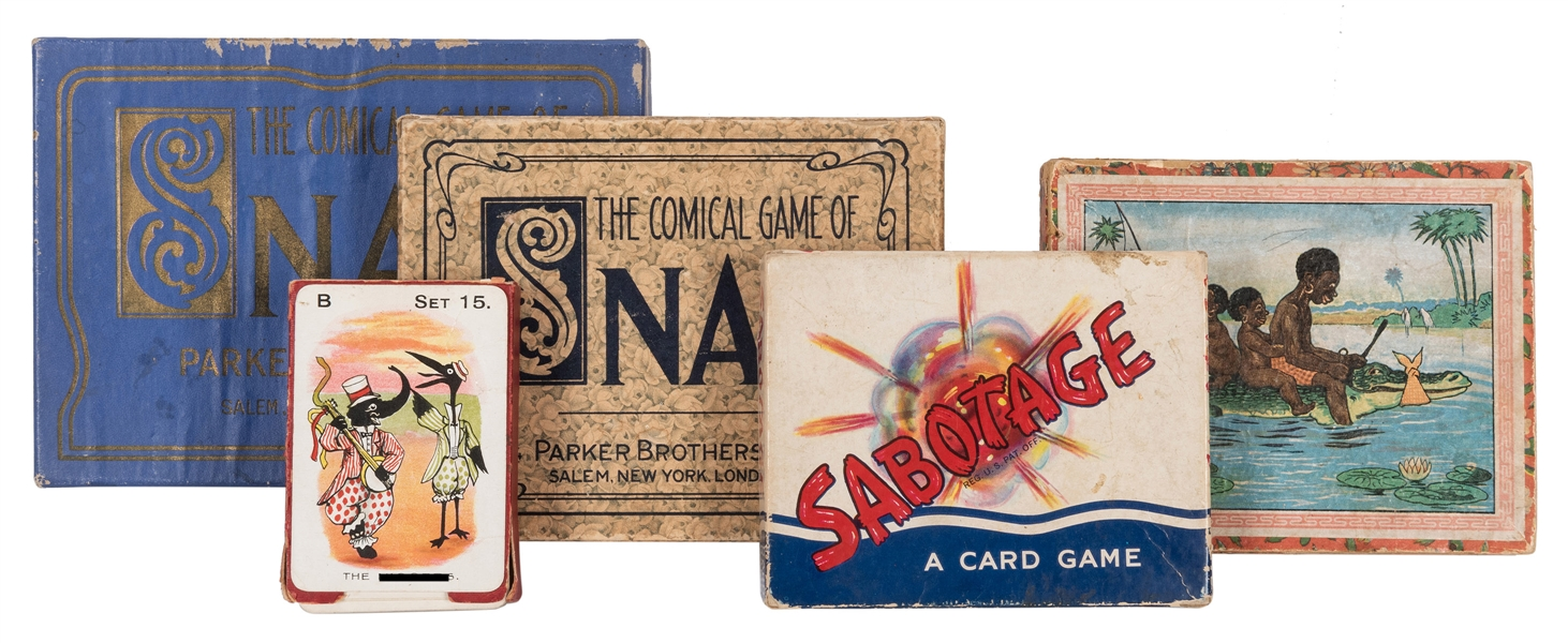 Collection of Black Americana Related Card Games and Puzzles. 5 pcs.