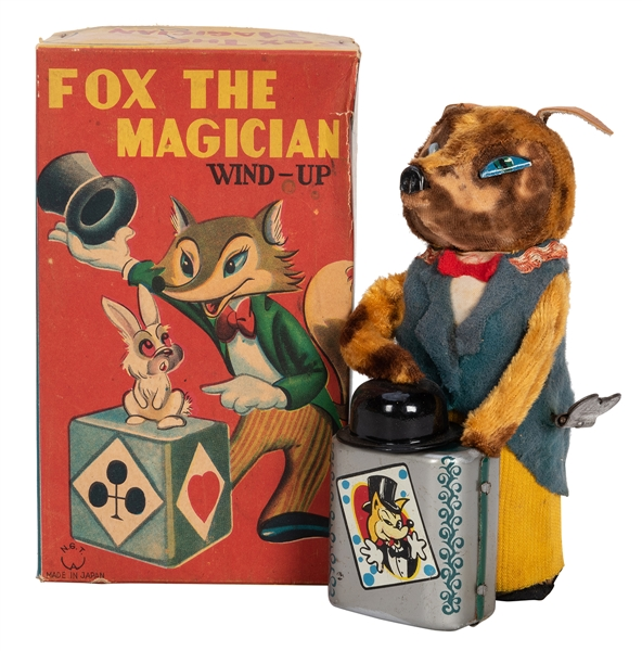Fox the Magician Wind-Up Toy in Original Box.