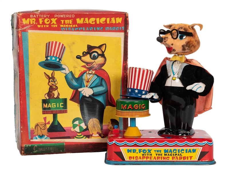 Cragstan Fox the Magician Battery-Operated Toy in Original Box.