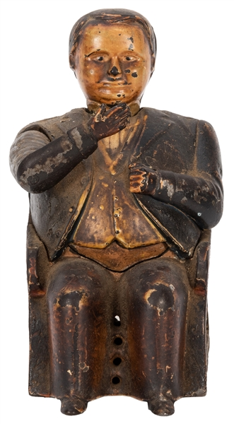 Tammany Hall Mechanical Cast Iron Bank.