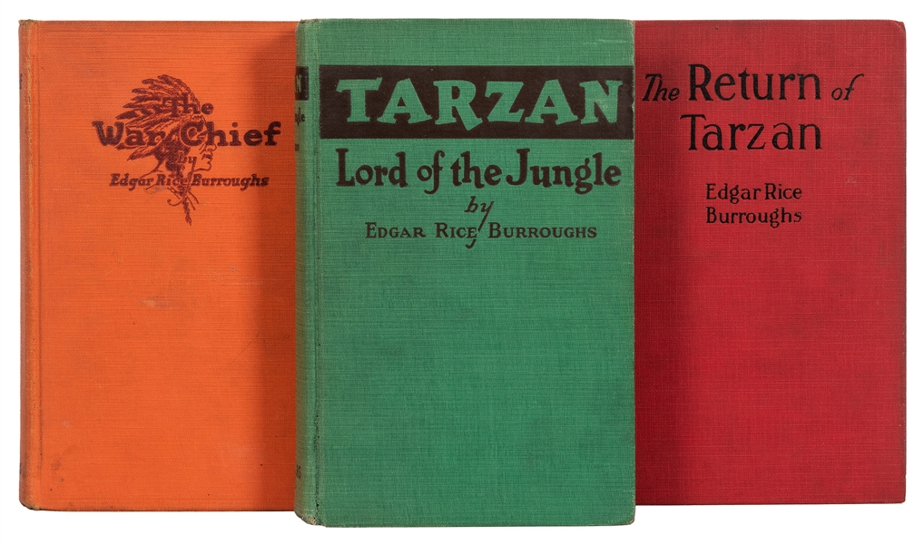Lot of 3 First Edition Tarzan Titles.