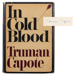 In Cold Blood, Signed by Capote.