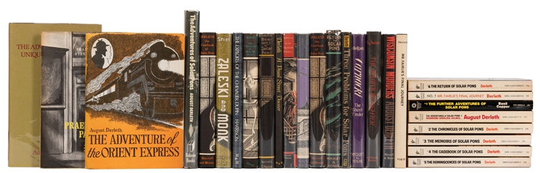 Group of Over 20 Volumes by Derleth, Mostly Solar Pons.