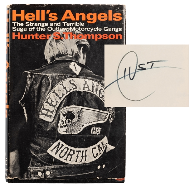 Hell's Angels, Signed by Hunter Thompson.