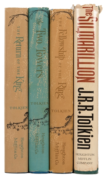 Group of J.R.R. Tolkien First American Editions. 4 Volumes.