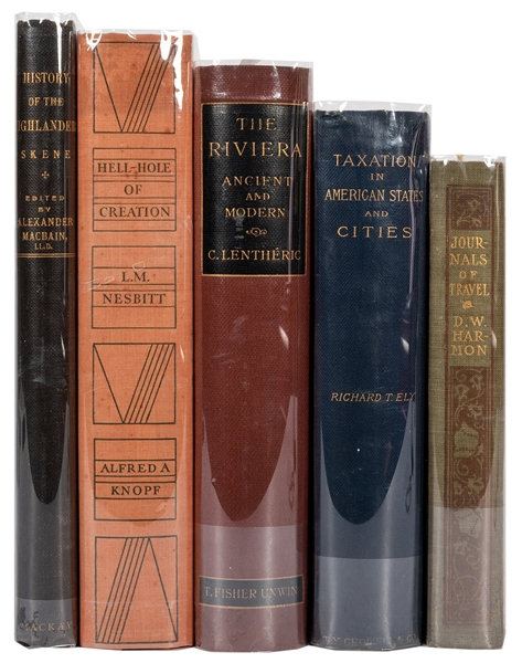 Group of Five Early 20th Century History Books.