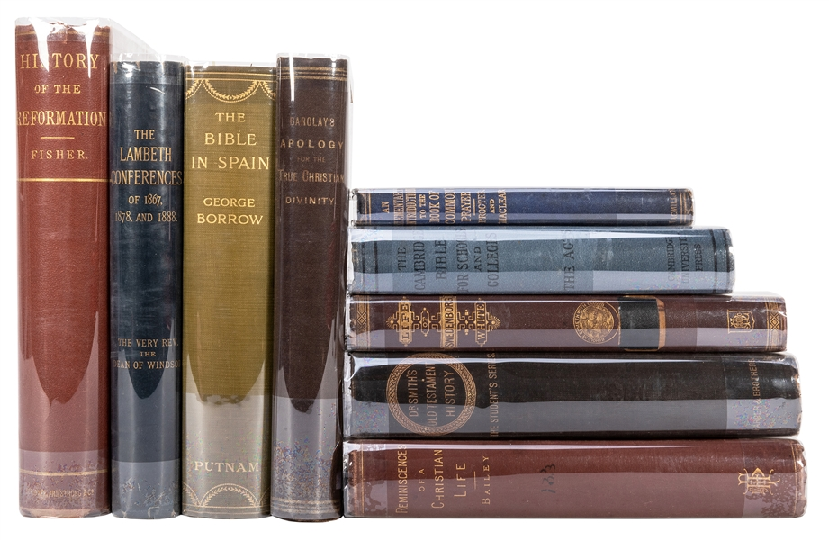 Group of Nine Theology Books.