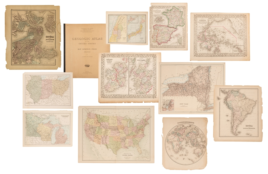 Group of 19th Century Maps. 12 pcs.