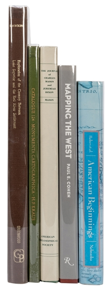 Group of Cartography Facsimiles and Reference Books. 4 pcs.