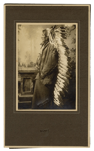 Photograph of Chief Jumping Bear.