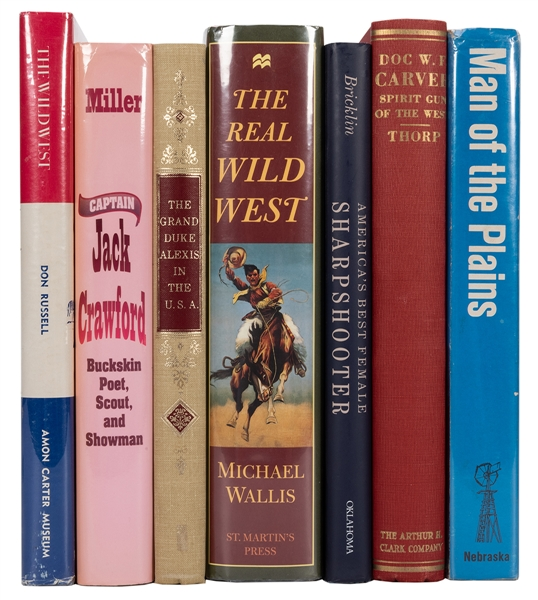 Group of Seven American West Biographies and Histories.