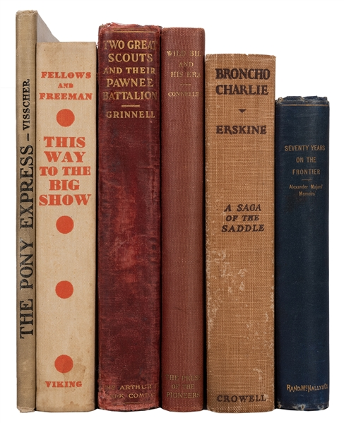Group of Six Early 20th Century American West Biographies and Histories.
