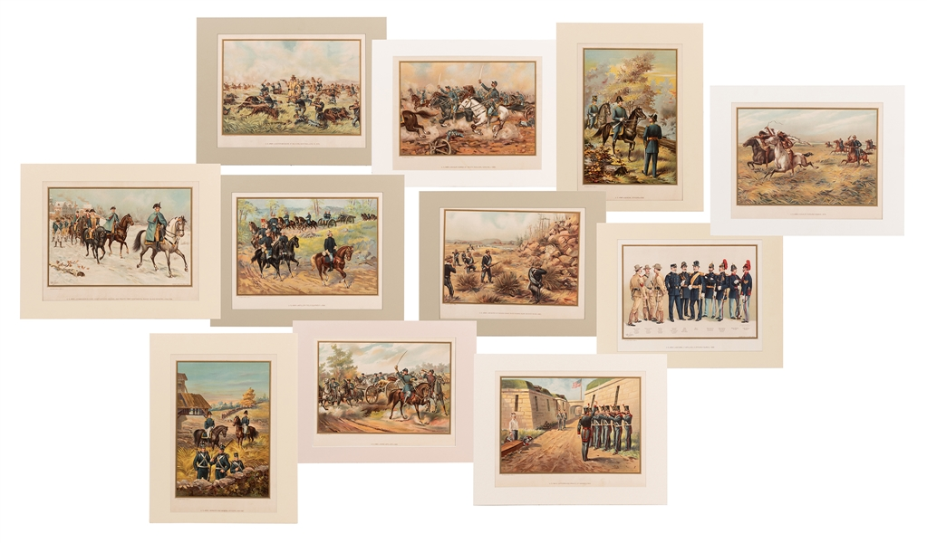 Group of Ten Werner Company U.S. Army Uniform Prints.