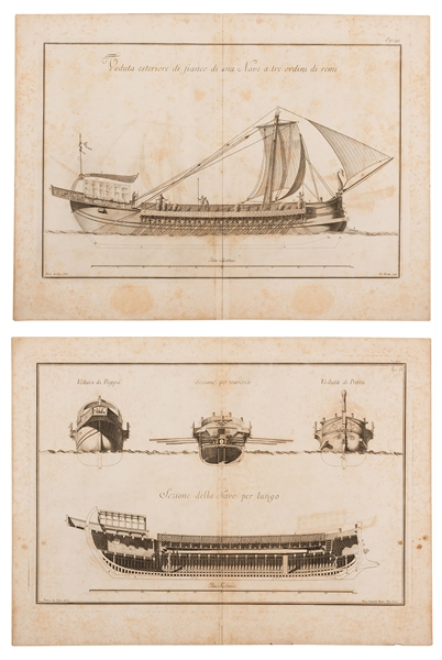 Pair of 18th Century 'Palmi Napoletani' Engravings.
