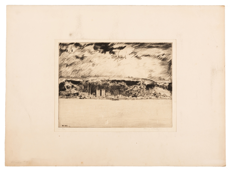Harry Wickey. Hudson River Valley Etching.