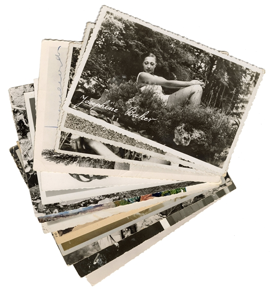 Fourteen Josephine Baker Postcards.
