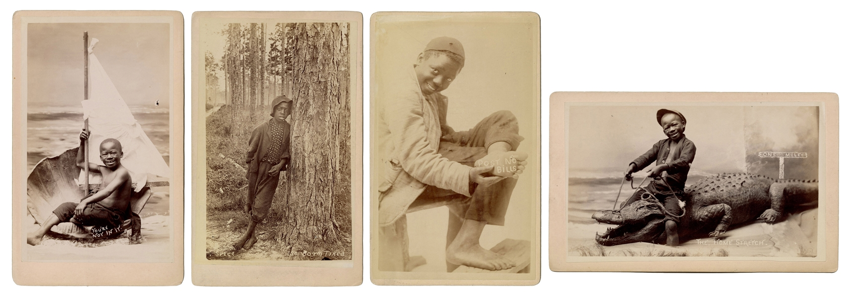 Four Photographs of Black Boys, Studio of O. Pierre Havens.