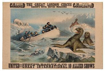The Great London Circus. Seals and Polar Bears.