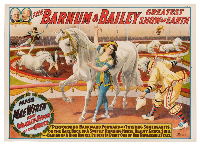 The Barnum & Bailey Greatest Show on Earth. Miss Mae Wirth.