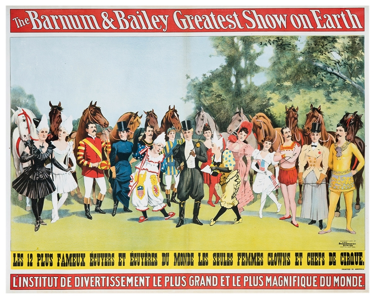 Barnum and Bailey. Twelve Most Famous Riders in the World.