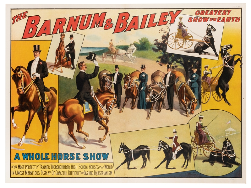 Barnum and Bailey. A Whole Horse Show.