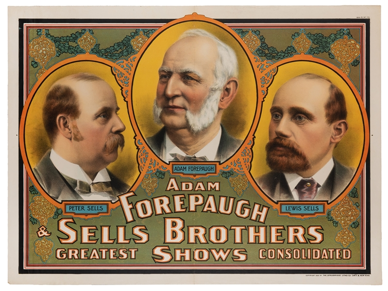 Forepaugh & Sells Brothers Greatest Shows Consolidated.