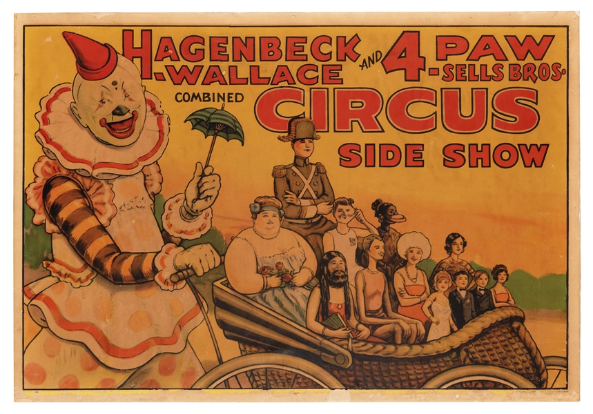 Hagenbeck-Wallace and Forepaugh-Sells Bros. Circus. Side Show.