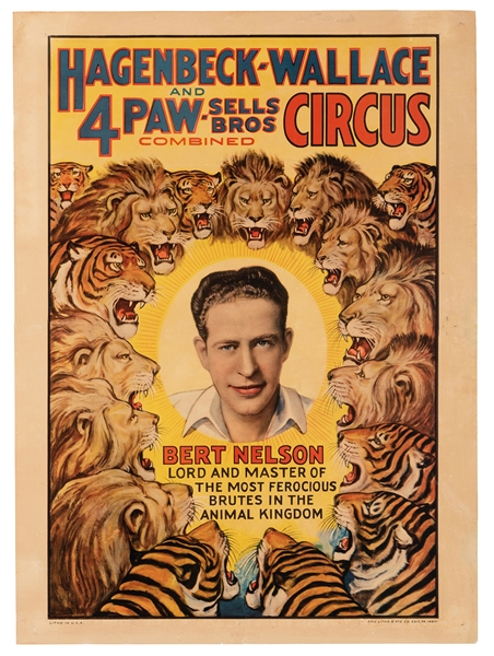 Hagenbeck-Wallace and Forepaugh-Sells Circus. Bert Nelson.