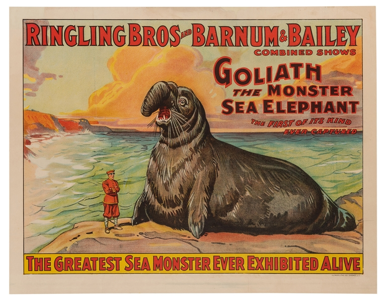 Ringling Bros. and Barnum & Bailey Circus. Goliath the Monster Sea Elephant.
